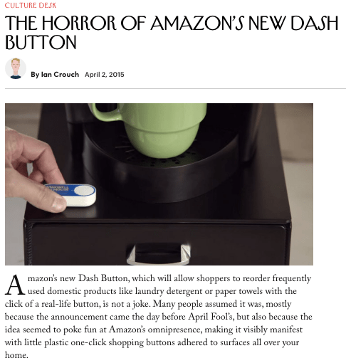 what is an amazon dash button - New Yorker